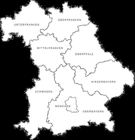 Karte Oberbayern Regionen.Home Golf In Bayern